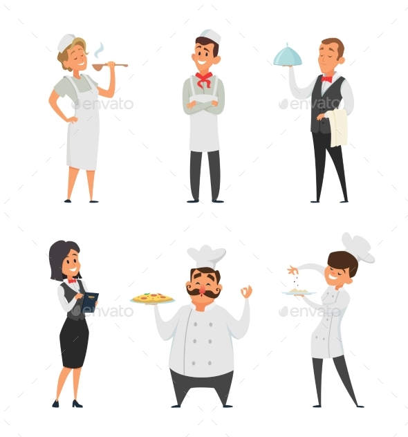 Professional Staff of the Restaurant - People Characters