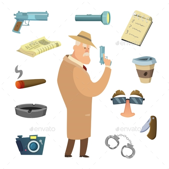 Different Tools for Detective - People Characters
