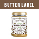 Butter Label Design - GraphicRiver Item for Sale