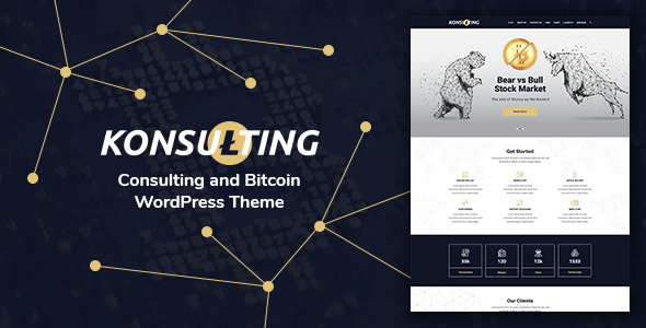 Konsulting - Consulting & Bitcoin WordPress Theme - Technology WordPress