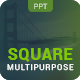 Multipurpose Square Powerpoint Professional Presentation - GraphicRiver Item for Sale