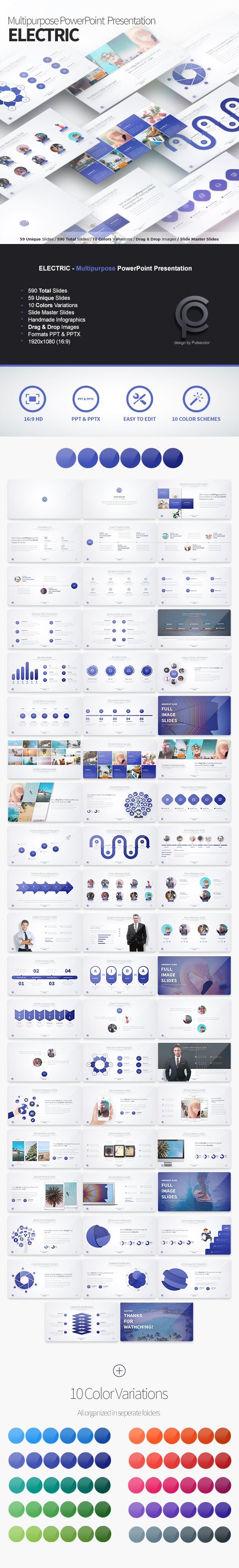 Electric - Multipurpose PowerPoint Presentation - Business PowerPoint Templates