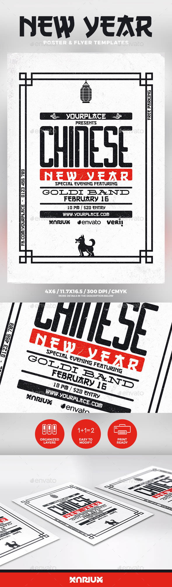 Chinese New Year Flyer & Poster - Events Flyers