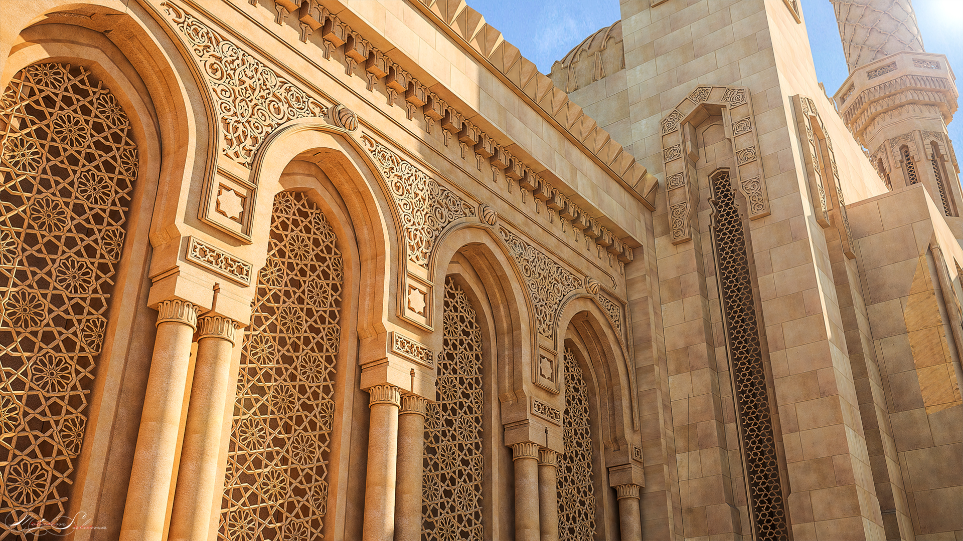 Islamic Architecture High Details By Ttm Salama 3docean