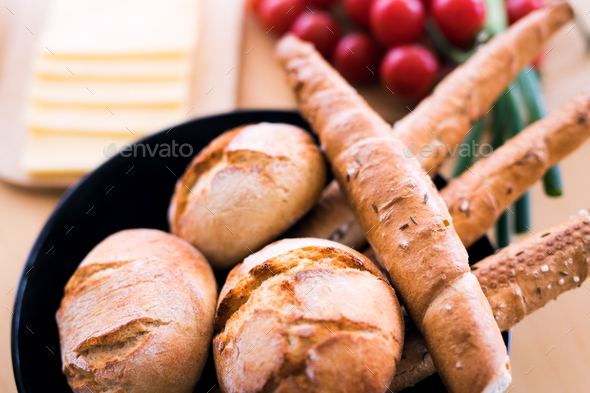 Composition of food on the table. - Stock Photo - Images