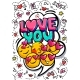 Love You Word Bubble. - GraphicRiver Item for Sale