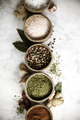 Set of spices on rustic murble background - PhotoDune Item for Sale