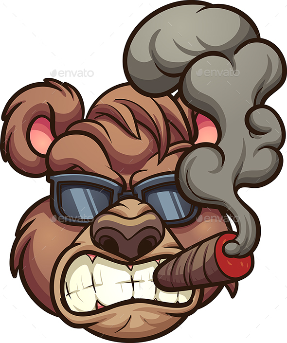 Smoking Bear - Animals Characters