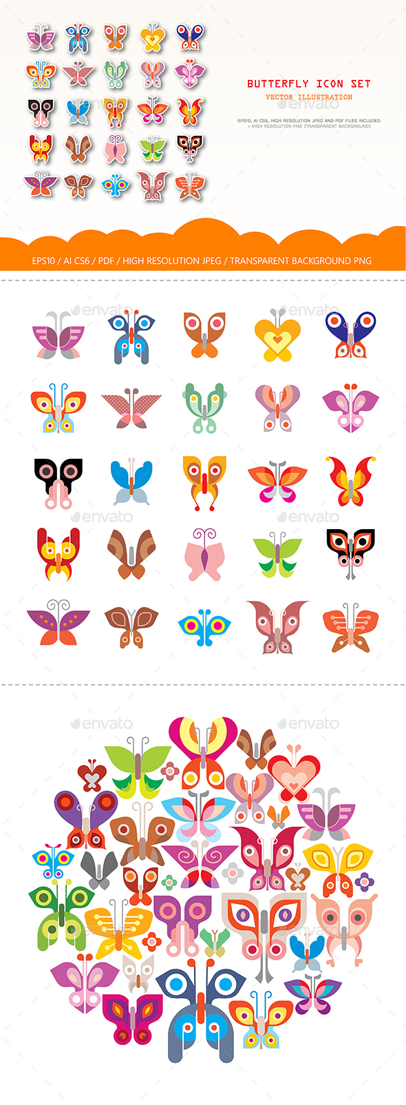 Butterfly Icons - Animals Characters