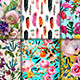 Collection with 6 Seamless Floral Patterns