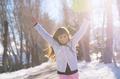 Cheerful girl running - PhotoDune Item for Sale