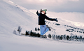 Happy woman jumping in the snow - PhotoDune Item for Sale