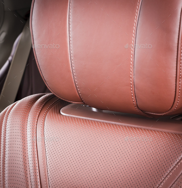 Leather seats details - Stock Photo - Images