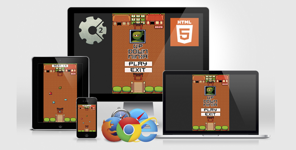 CodeCanyon Up Down Ninja HTML5 Game 21255936