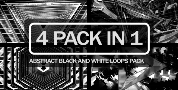 VideoHive Abstract Black and White Loops Pack 21231230
