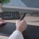 The Designer Draws on the Tablet - VideoHive Item for Sale