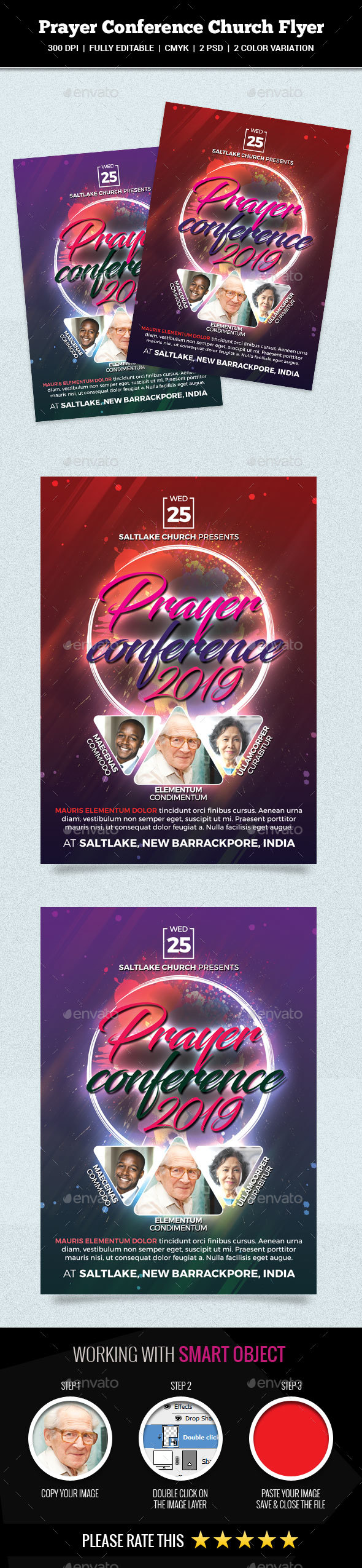 Prayer Conference Church Flyer - Church Flyers
