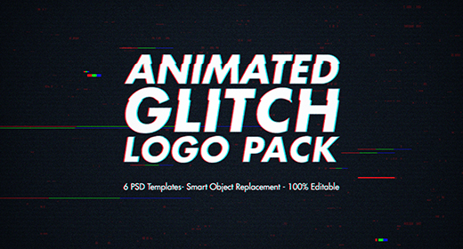 Animated Glitch Logo Pack