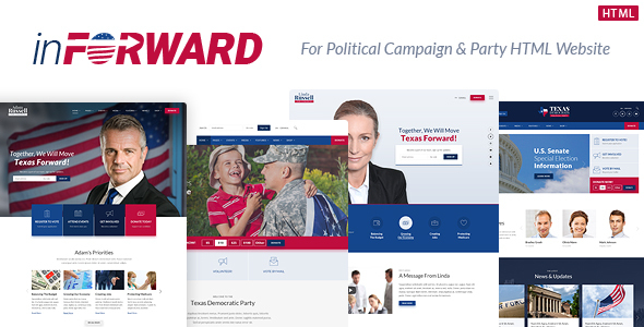 inForward - Political Campaign, Party, Nonprofit HTML Template