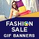 Fashion Sale Animated GIF Banner Set