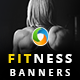 Fitness Banner Set - GraphicRiver Item for Sale