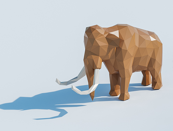 Lowpoly Mammoth 001 - 3DOcean Item for Sale