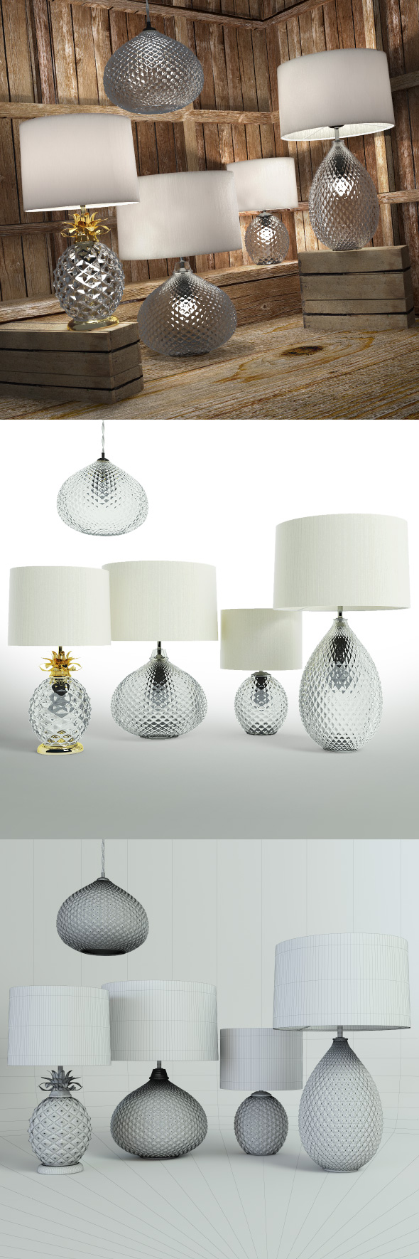 Decorative lamps Glamour - 3DOcean Item for Sale