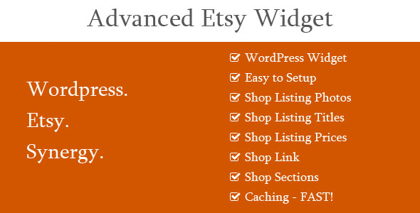 Advanced Etsy Widget - CodeCanyon Item for Sale