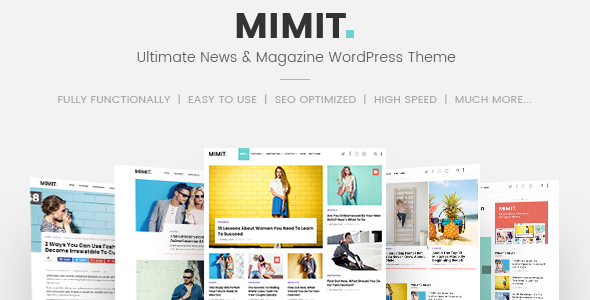 Mimit - Ultimate News & Magazine WordPress Theme - News / Editorial Blog / Magazine