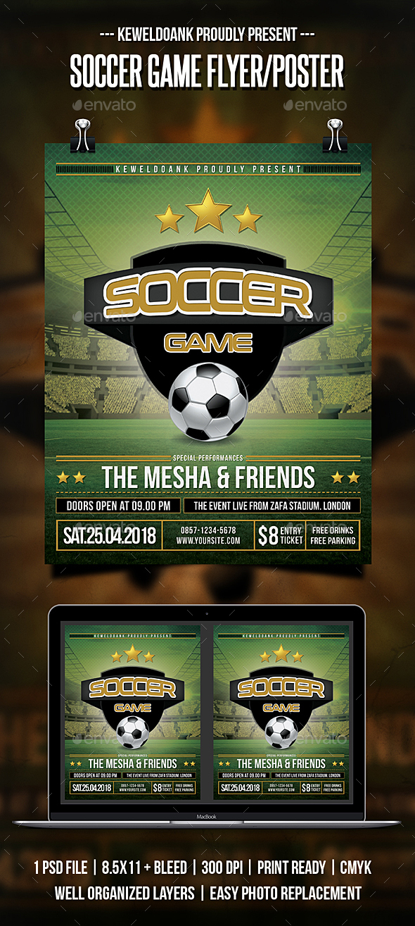 Soccer Game Flyer / Poster - Sports Events