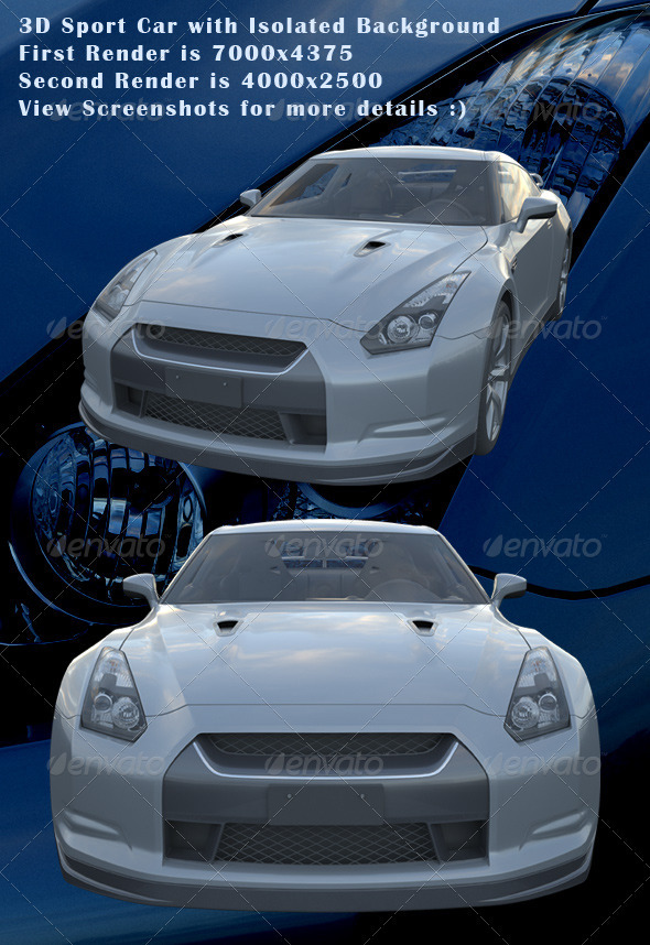 3D Sport Car - Miscellaneous 3D Renders
