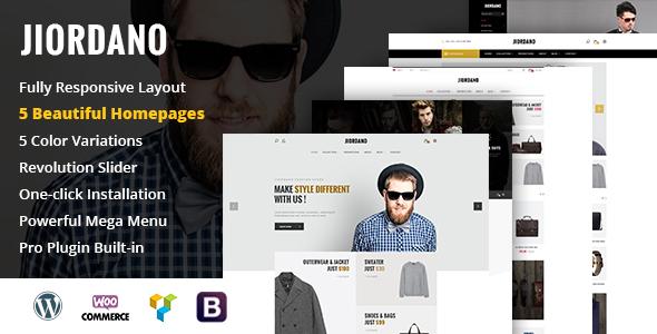 Jiordano - Responsive Fashion WooCommerce WordPress Theme