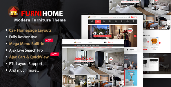 FurniHome - Furniture WooCommerce WordPress Theme - eCommerce WordPress