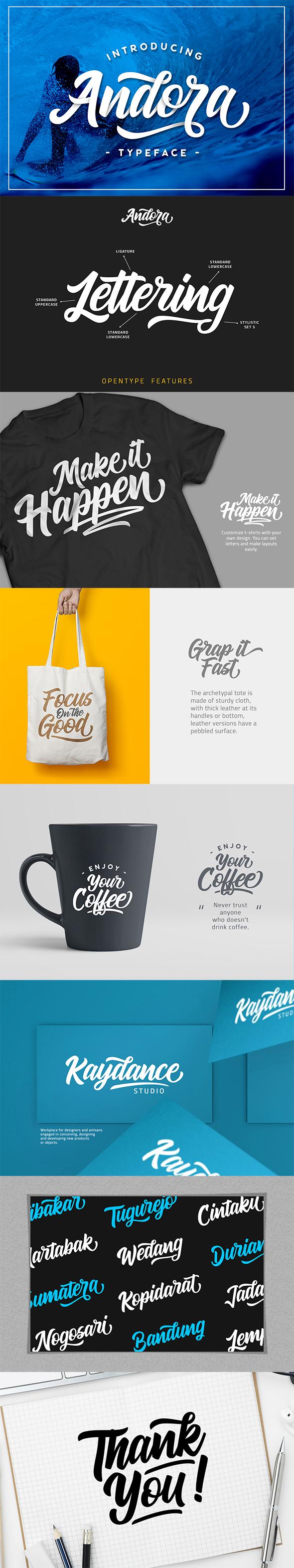 Andora Typeface - Script Fonts