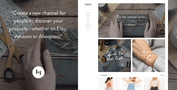 VOCO: Product showcasing theme for merchant