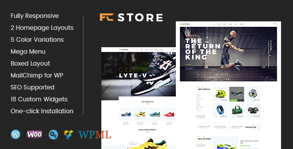 FcStore - Sports, Fitness and Gym WooCommerce WordPress Theme