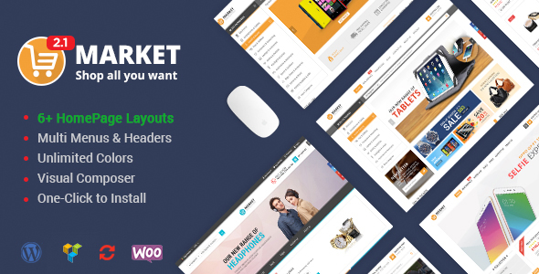 Market - Shopping WooCommerce WordPress Theme - WooCommerce eCommerce
