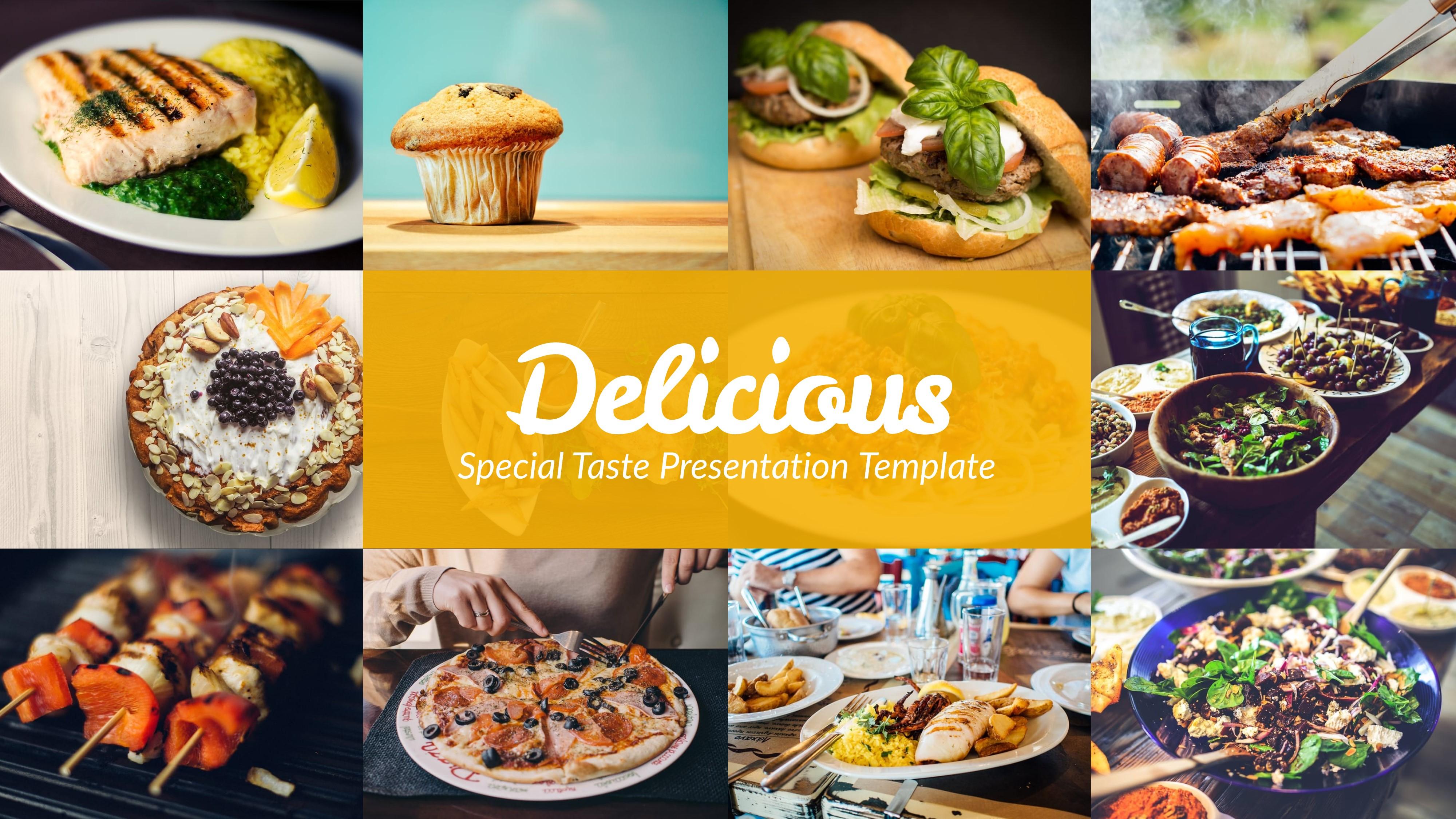 food presentation template