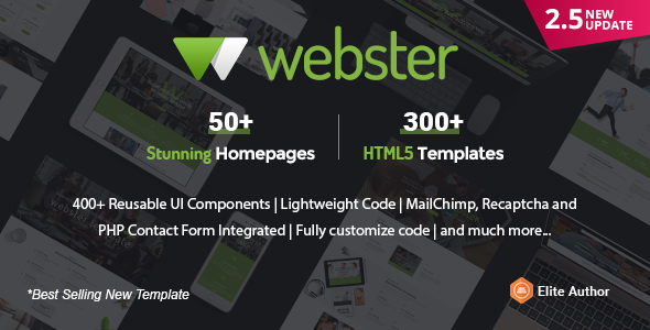Image of Webster - Responsive Multi-purpose HTML5 Template