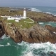 Aerial View of the Historic Fanadhead Lighthouse, Donegal, Ireland - VideoHive Item for Sale