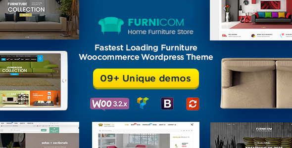 Furnicom - Fastest Furniture Store WooCommerce WordPress Theme (Mobile Layouts Included)