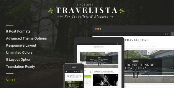 Travelista - Travel Blog Theme