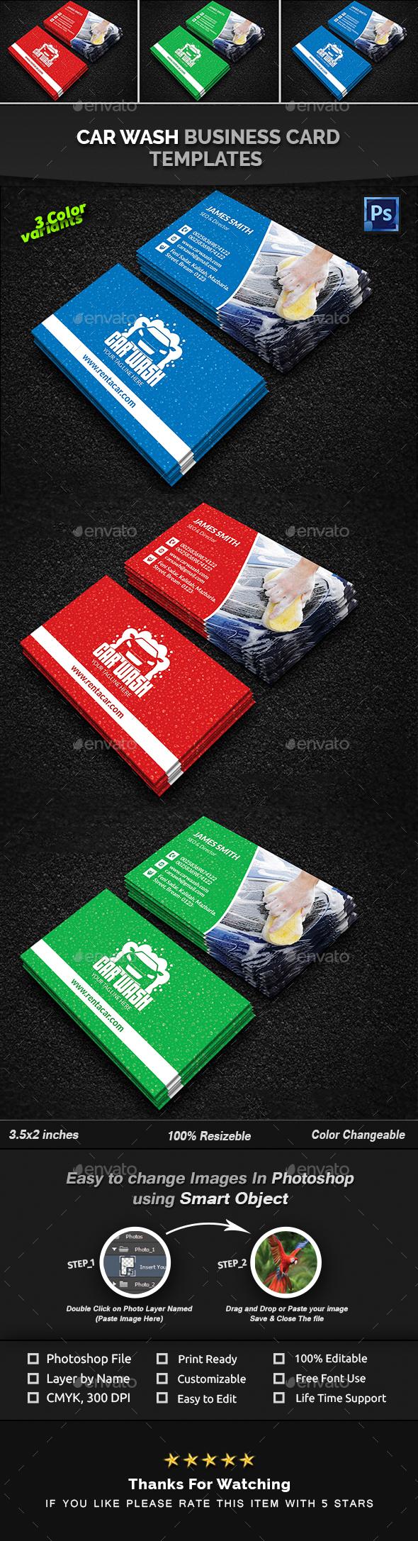 Car Wash Business Card - Creative Business Cards