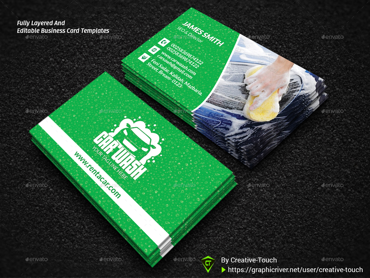 Car Wash Business Card by Creative-Touch | GraphicRiver