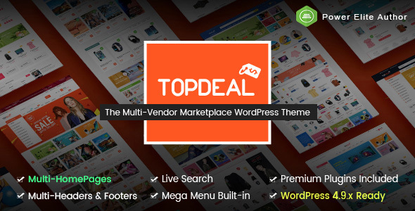 TopDeal - Multipurpose Marketplace WordPress Theme (Mobile Layouts Included) - WooCommerce eCommerce