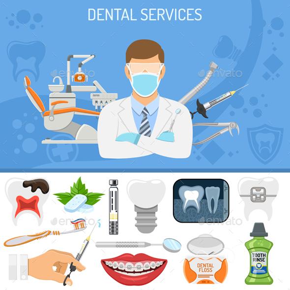 Dental Services Banner - Health/Medicine Conceptual