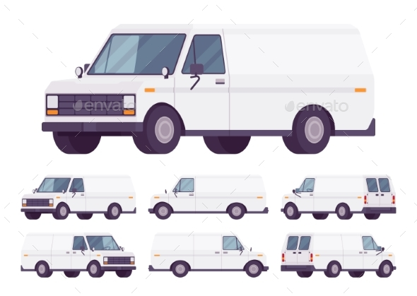 White Van Set - Man-made Objects Objects