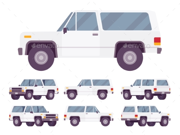 White Offroad Set - Man-made Objects Objects