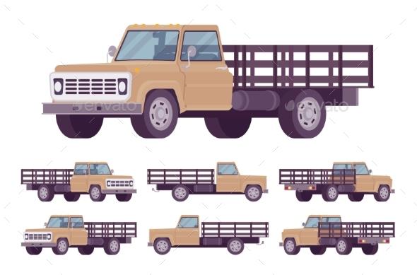 Beige Empty Truck