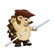 Hedgehog Pirate With a Saber - GraphicRiver Item for Sale